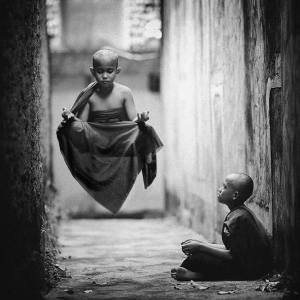 child-monk-levitating