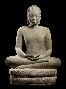 Buddha in Meditation, late 6th–mid- 7th century Southern Thailand,